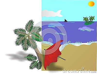 Tropical Beach Billboard