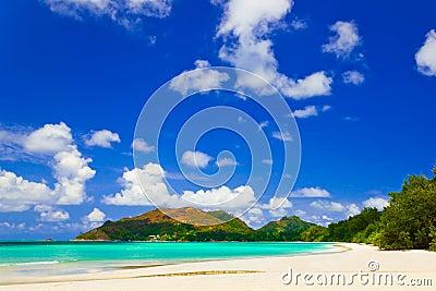 Tropical beach Cote d Or at Seychelles