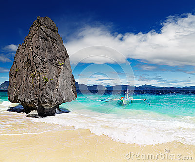 Tropical beach, El Nido, Philippines