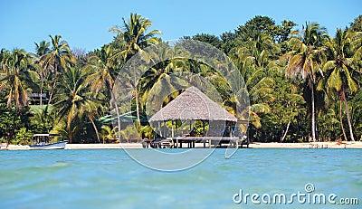 Tropical beach home paradise