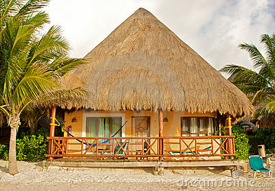 Tropical beach hut