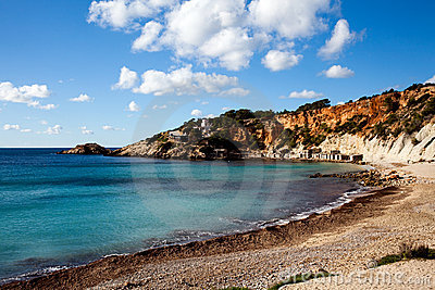 Tropical beach on Ibiza Island
