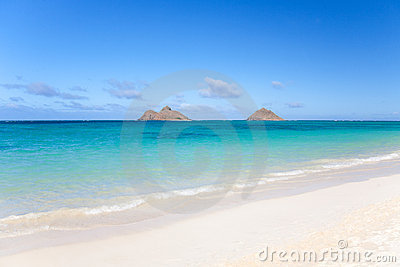 Tropical beach at Lanikai