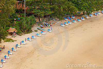 Tropical beach. Low tide, Thailand, Phuket, Rawai