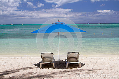 Tropical beach in Mauritius