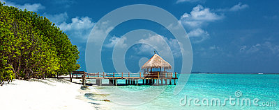 Tropical Beach Panorama Royalty Free Stock Photography - Image: 28915527