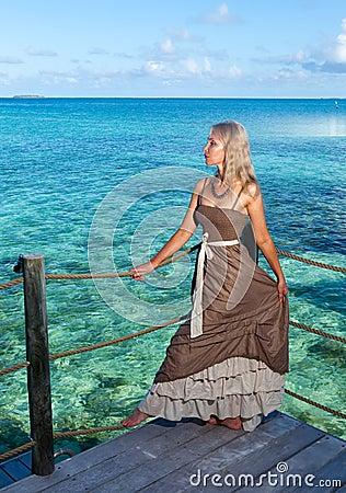 tropical beach. Polynesia. Island Tikehau.