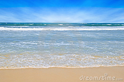 Tropical Beach Scene Royalty Free Stock Photography - Image: 6049577