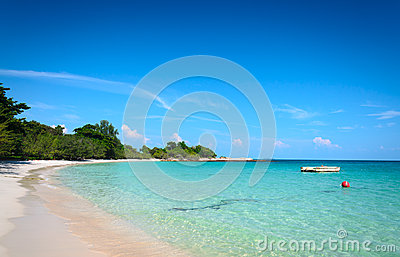 Tropical beach and sea