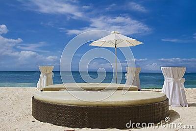 Tropical beach seascape