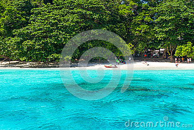 Tropical beach of Similan Islands in Thailand