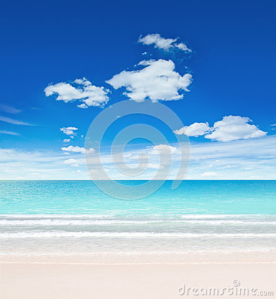 Tropical beach and sky