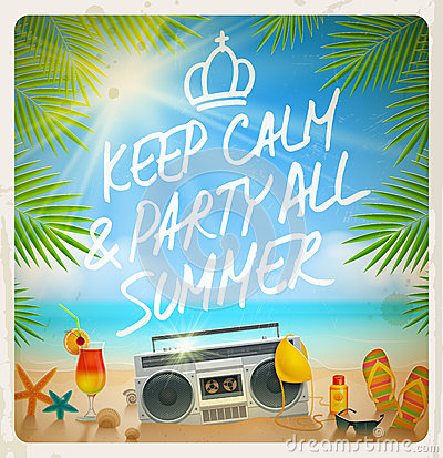 Free Tropical Beach Summer Party Stock Photo - 40747760