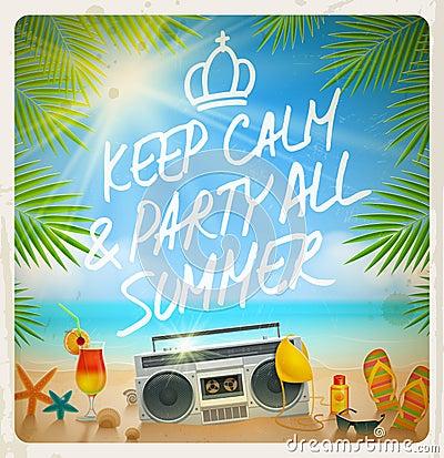 Tropical beach summer party