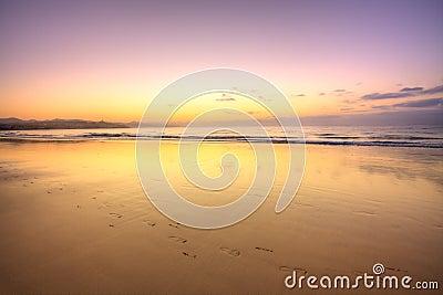 Tropical beach before sunrise