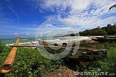 Tropical beach at Ujung Kulon Indonesia