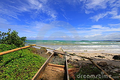 Tropical beach at Ujung Kulon Indonesia