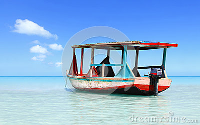 Tropical beach water taxi