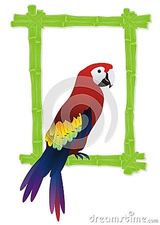 Tropical bird frame