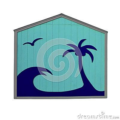 Tropical Blue Hut