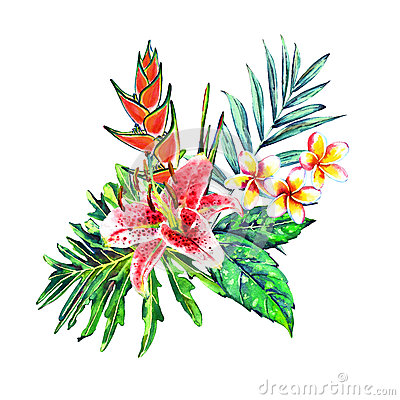 Tropical bouquet Stock Photo