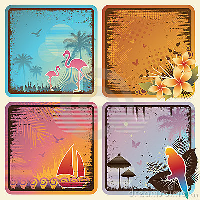 Tropical Cards Set