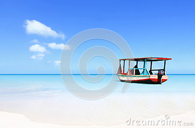 Exotic Caribbean water taxi