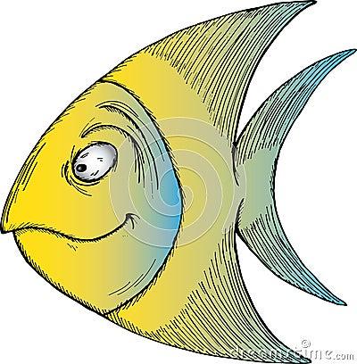 Free Tropical Cartoon Fish Stock Photo - 18672110
