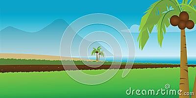 Tropical coastal resort