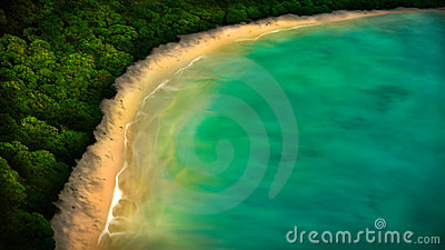 Tropical Coastline Digital Painting
