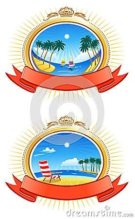 Tropical Coastline Emblems