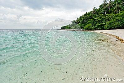 Tropical desert beach