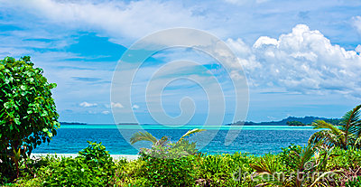 Tropical desert islands landscape
