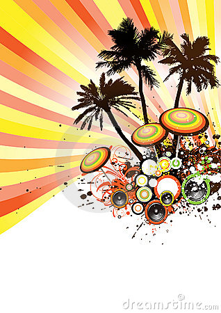 Tropical Disco Party Vector