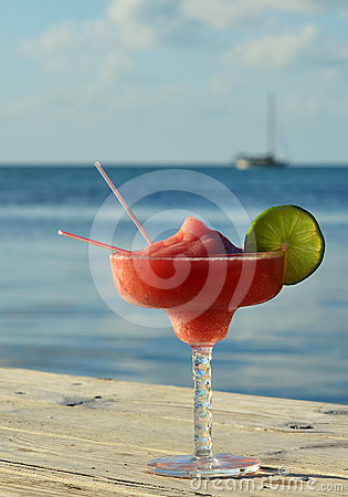 Free Tropical Drink At Seashore Stock Image - 24445241