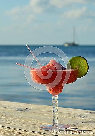 Tropical drink at seashore