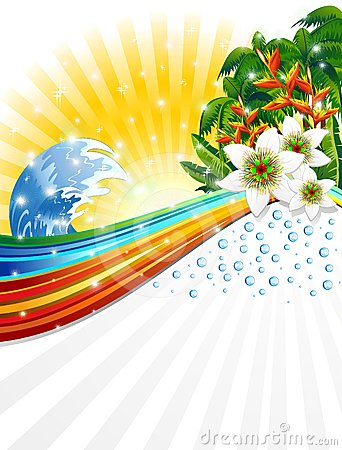 Tropical Exotic Summer Holidays Background