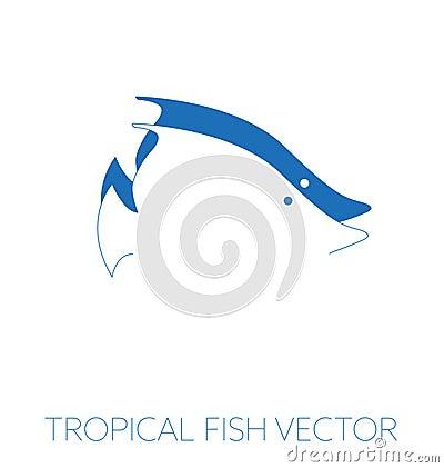 Tropical fish minimal illustration Cartoon Illustration