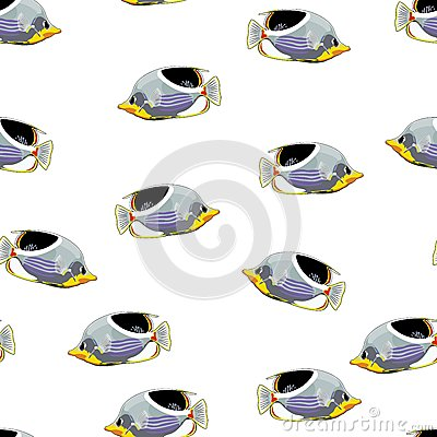 Free Tropical Fish Vector Seamless Pattern Royalty Free Stock Images - 45714079