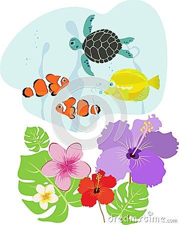 Tropical flora and fauna