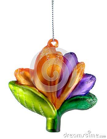 Tropical Flower Christmas Ornament