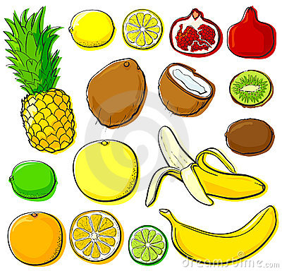 Tropical fruit collection