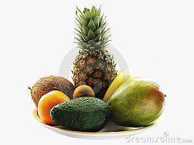 Tropical fruit-piece