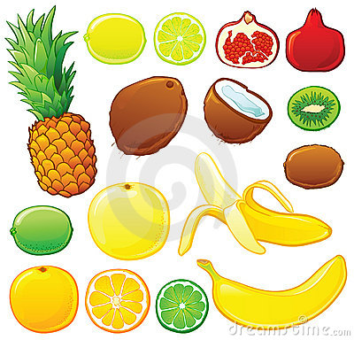Free Tropical Fruit Set Royalty Free Stock Photography - 6664607