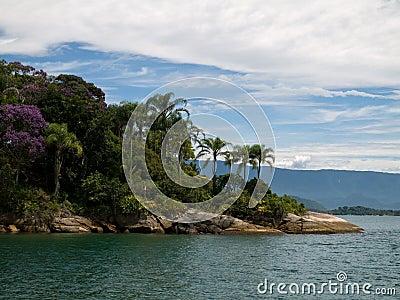Tropical headland, Brazil.