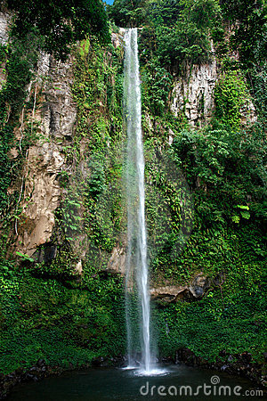 Tropical high waterfall