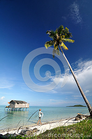 Tropical island with clear blue sky Editorial Photo