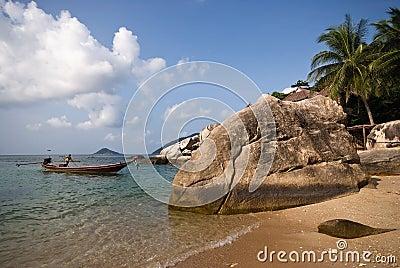Tropical island fisherman
