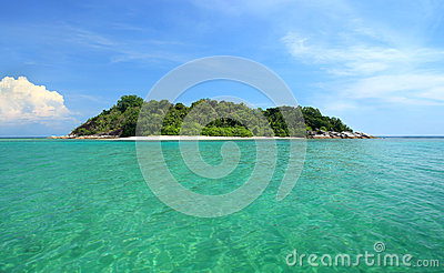 Tropical Island, getaway paradise