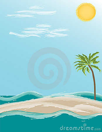 Tropical Island - Illustration